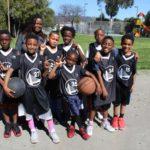 Elementary boys with Coach Carlynn