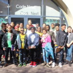 Middle school students visited Code Next
