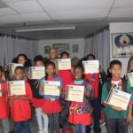 The Ngola Nzingha (4th and 5th grade) classroom honor roll students