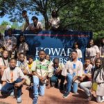 Visiting Howard University during the week long college tour
