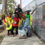 The Malcolm X class during community cleanup
