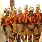 The girl dancers preparing for their performance